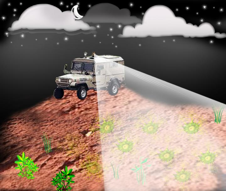Remote Detection of Buried Landmines Using Bacterial Sensor and Laser