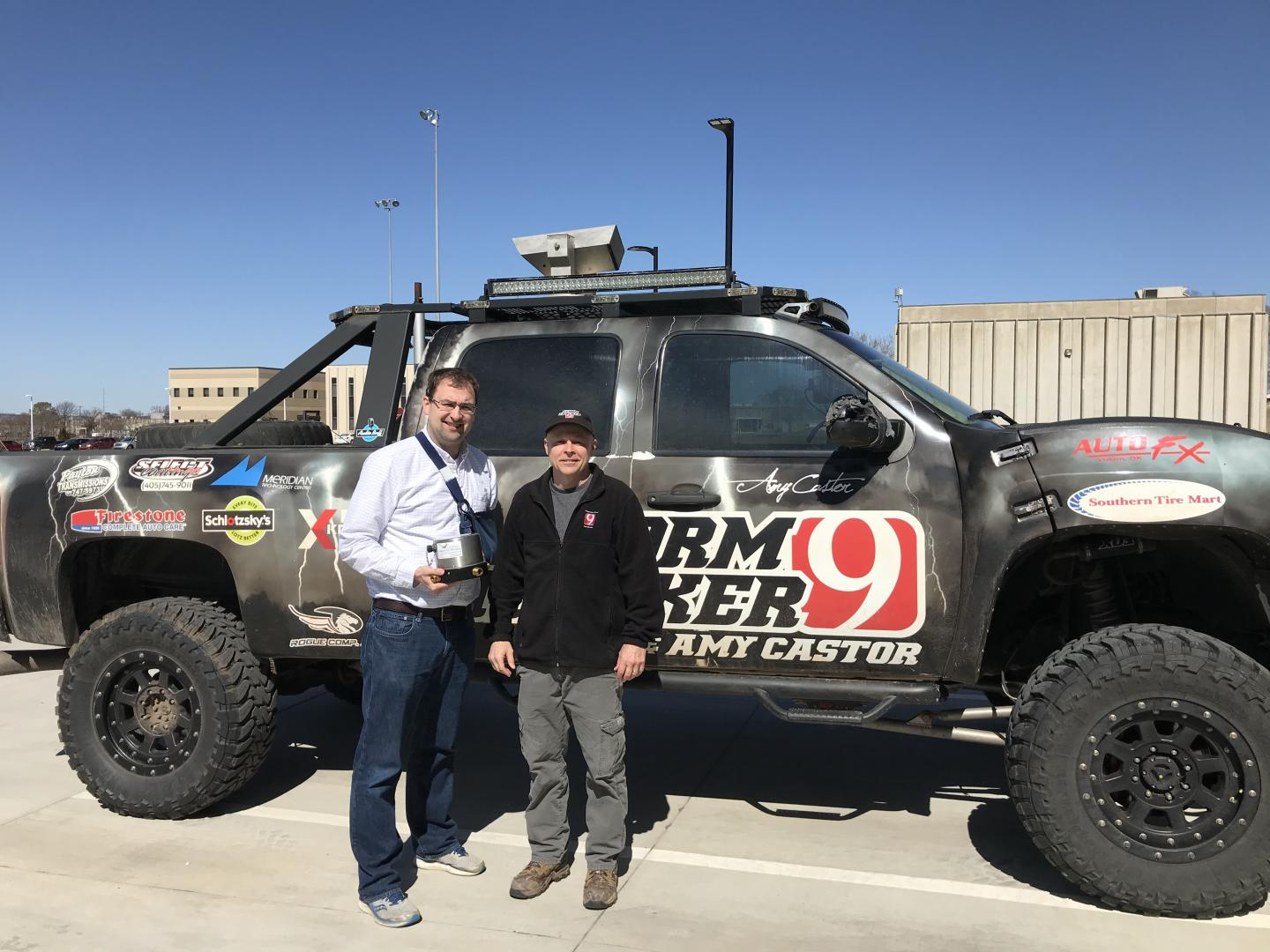 Storm Chasing Truck with Infrasound Sensor