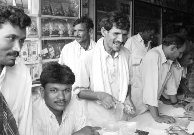 Farmers Buying Cotton Seeds at a Shop in Warangal