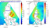 2 Views of Koppu's Winds Near the Philippines