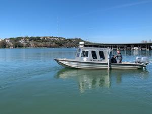 UTIG's RV Scott Petty on Lake Austin