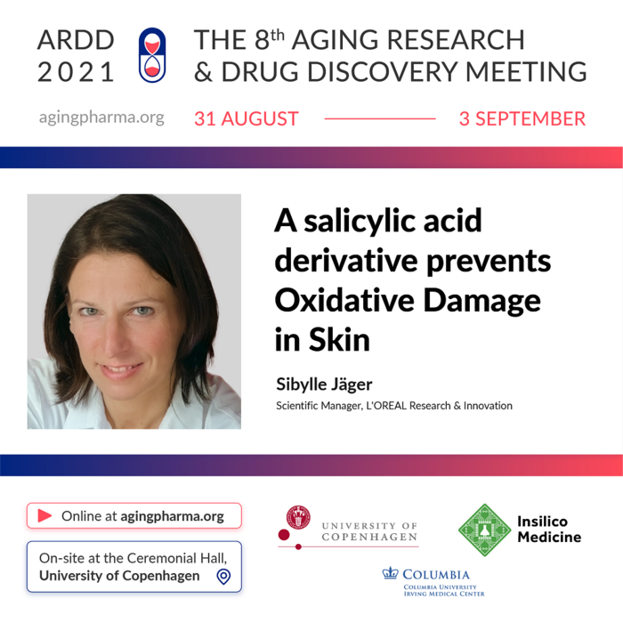Sibylle Jäger to present at the 8th Aging Research & Drug Discovery Meeting 2021