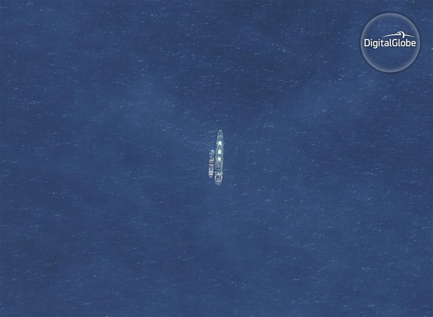 Two Vessels Rendezvous off the Coast of Argentina in a Likely Transshipment