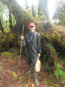 R.P. Narakusumo during fieldwork at the top of Mt. Dako