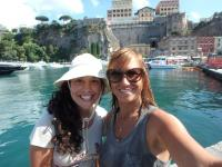 Aylin Ulman (Right) & Her Assistant Gemma Martinez in Sorrento