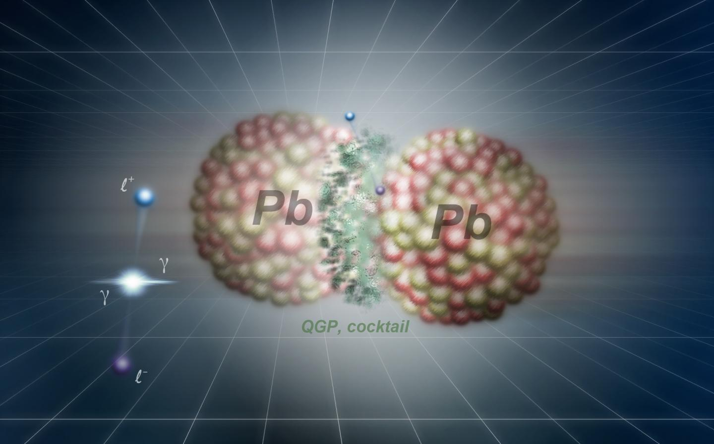 Emission without contact in nuclei collisions