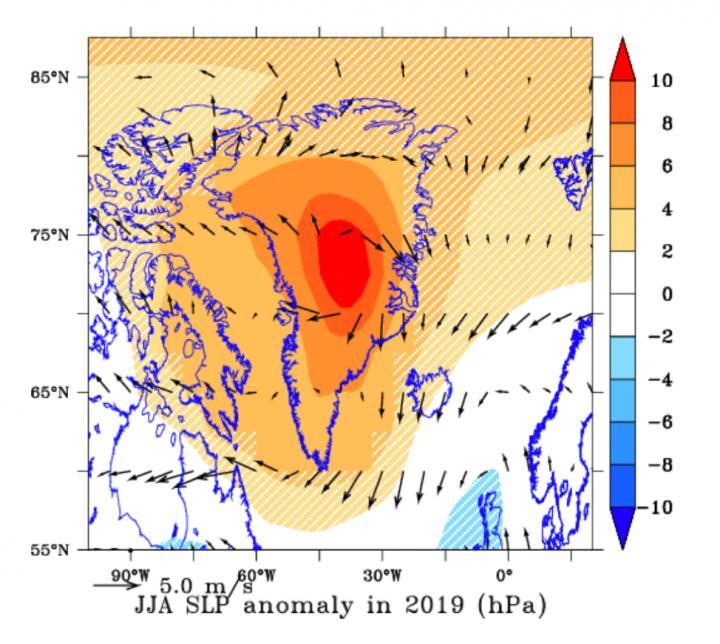 Pressure Over Greenland