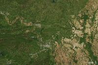 NASA Satellite View Before the Tornado, North of Little Rock, Ark.