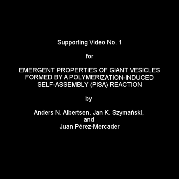 Lab video of self-assembling chemical polymer vesicles