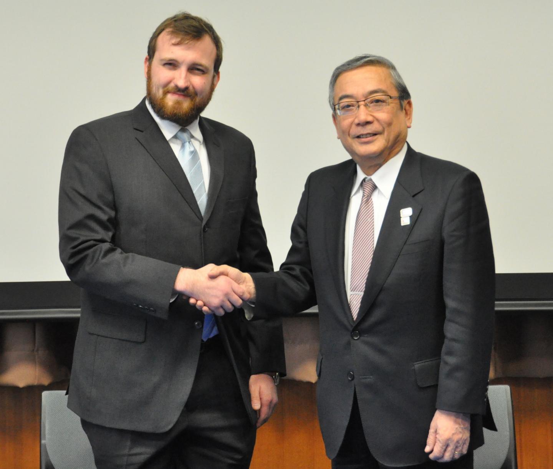 Charles Hoskinson and Yoshinao Mishima