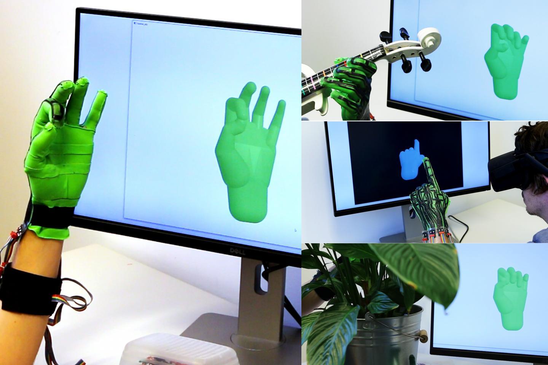 Stretch-Sensing Soft Glove