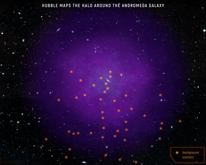 Andromeda halo (illustration)