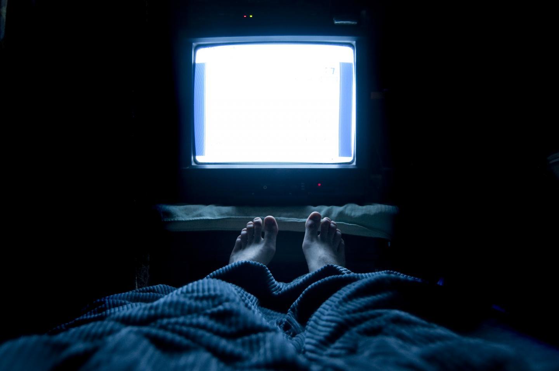 TV Light at Night