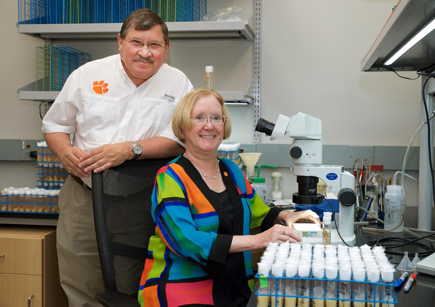 Trudy and Robert in Lab
