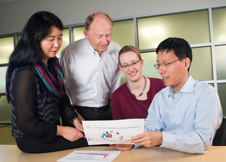 Jinghui Zhang, Ph.D., Leslie Robison, Ph.D., Carmen Wilson, Ph.D., and Zhaoming Wang, Ph.D.