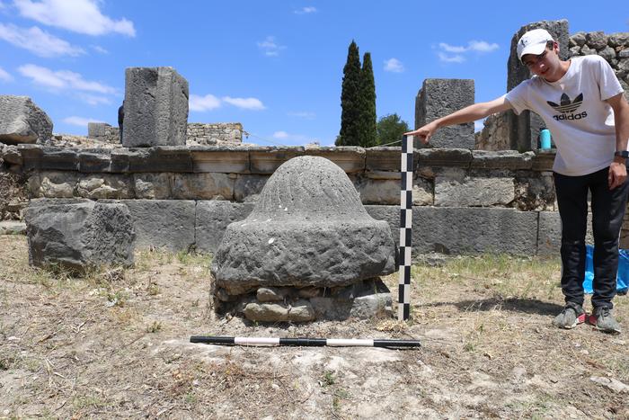 Olive millstone in Volubilis