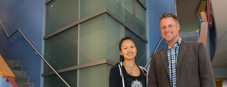 TSRI Graduate Student Mei Lan Chen and biologist Mark Sundrud, Scripps Research Institute