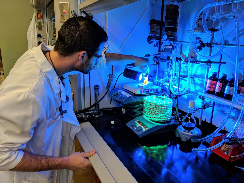 Sean Rafferty in the Lab, Ohio State University