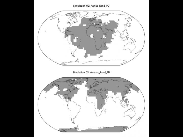 Maps of potential future supercontinents