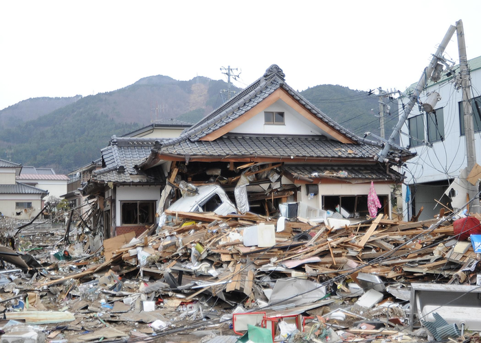 Search-and-Rescue Workers Arrive in Ofunato, Japan 2011