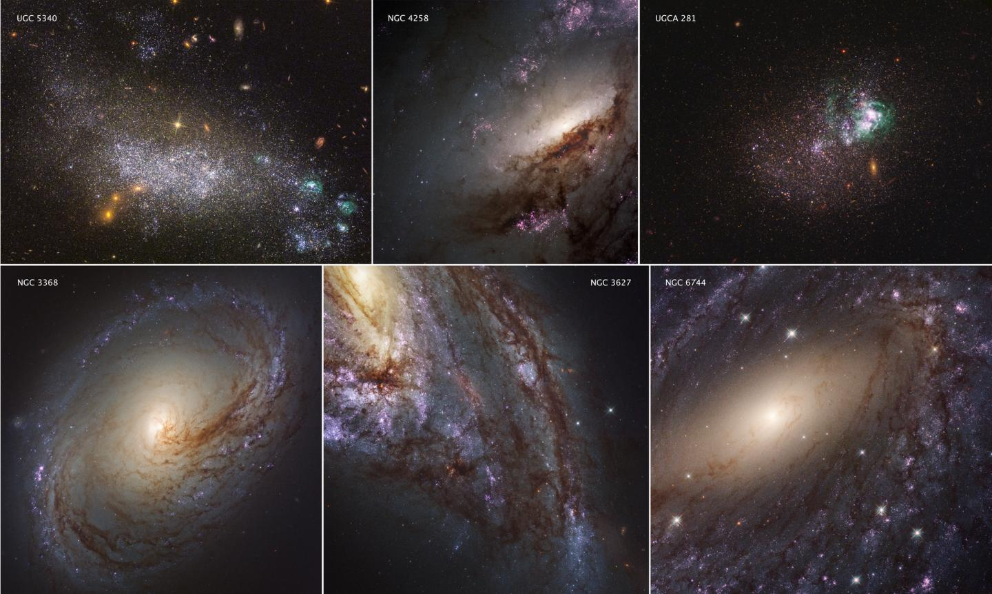 Collage of Galaxies