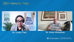 Video interview with 2021 Horwitz Prize Winners Katalin Karikó and Drew Weissman