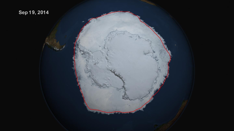 Antarctic Sea Ice Extent, Sept. 20, 2014