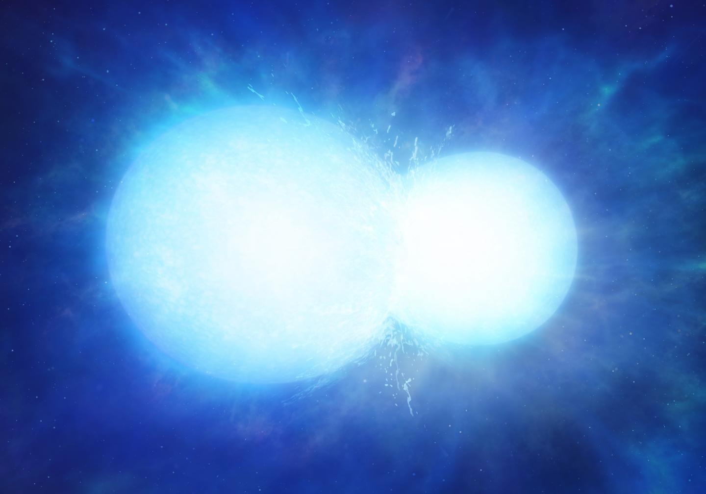 Artist's Impression of Two White Dwarfs in the Process of Merging