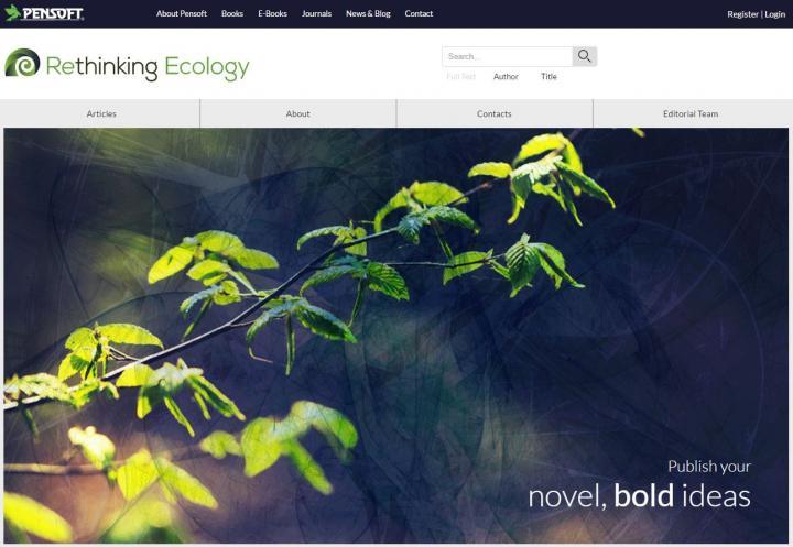 <em>Rethinking Ecology</em> Website