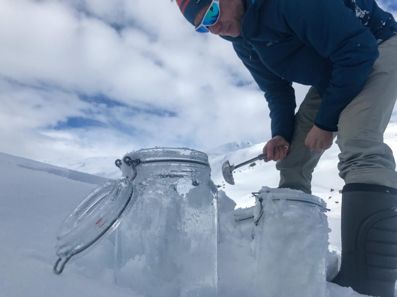 Snow Sampling in Tschuggen, Switzerland