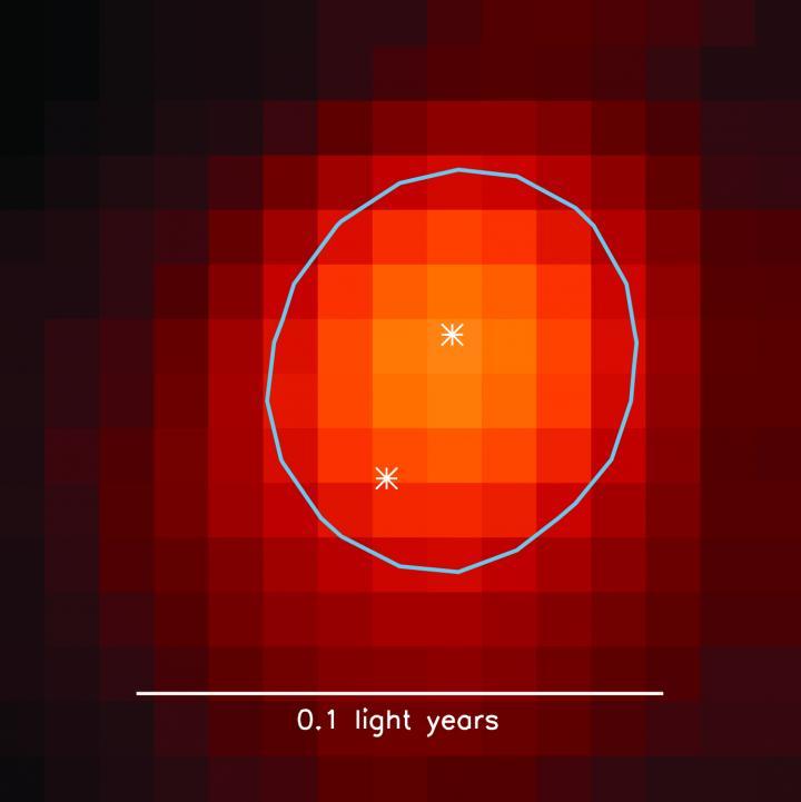 Radio image of Binary Stars in Dense Core