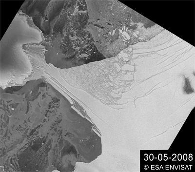 Wilkins Ice Shelf Hanging By its Last Thread
