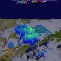 Gpm Measured Rain Falling from Powerful Storms