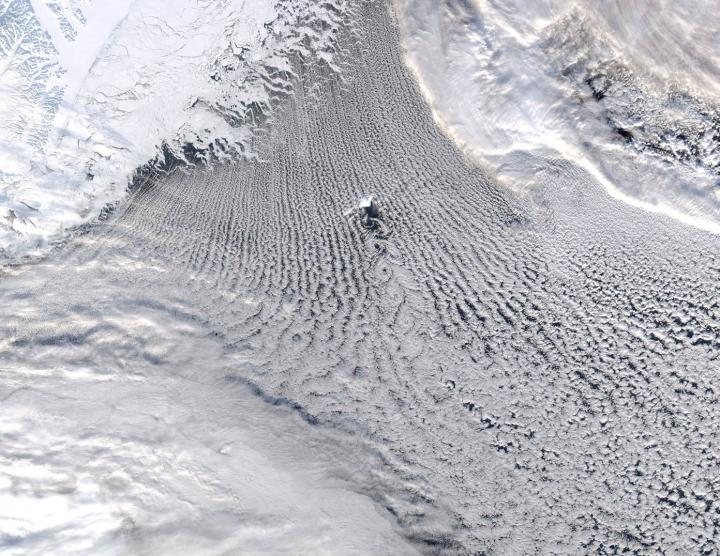 Cloud Patterns Over the Greenland and Iceland Seas