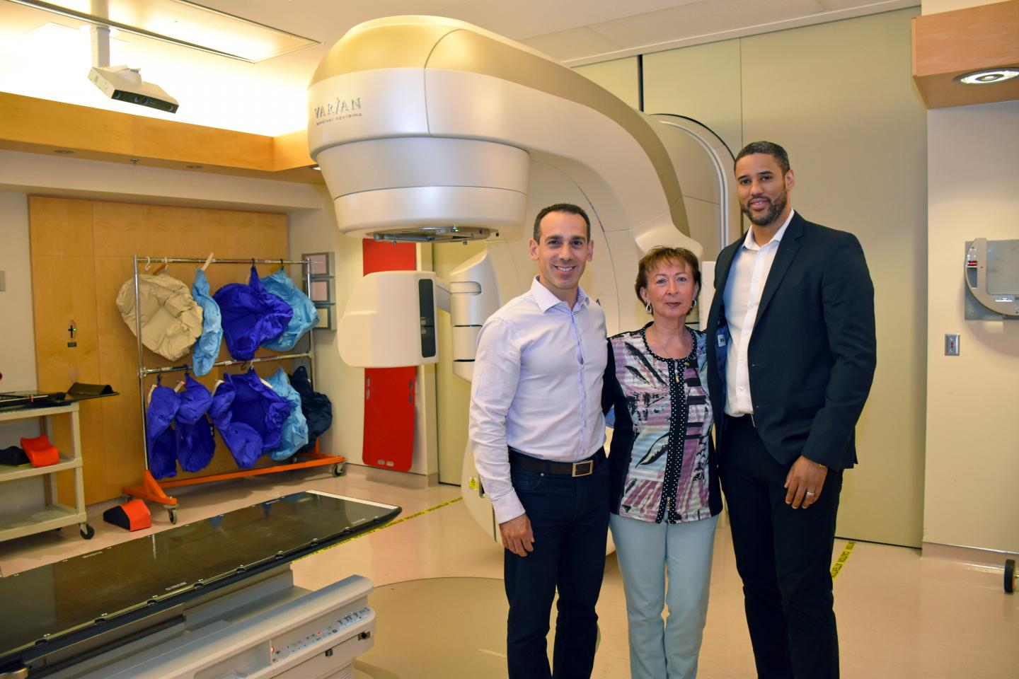 Dr. Palma, Betty and Dr. Nichols, Lawson Health Research Institute