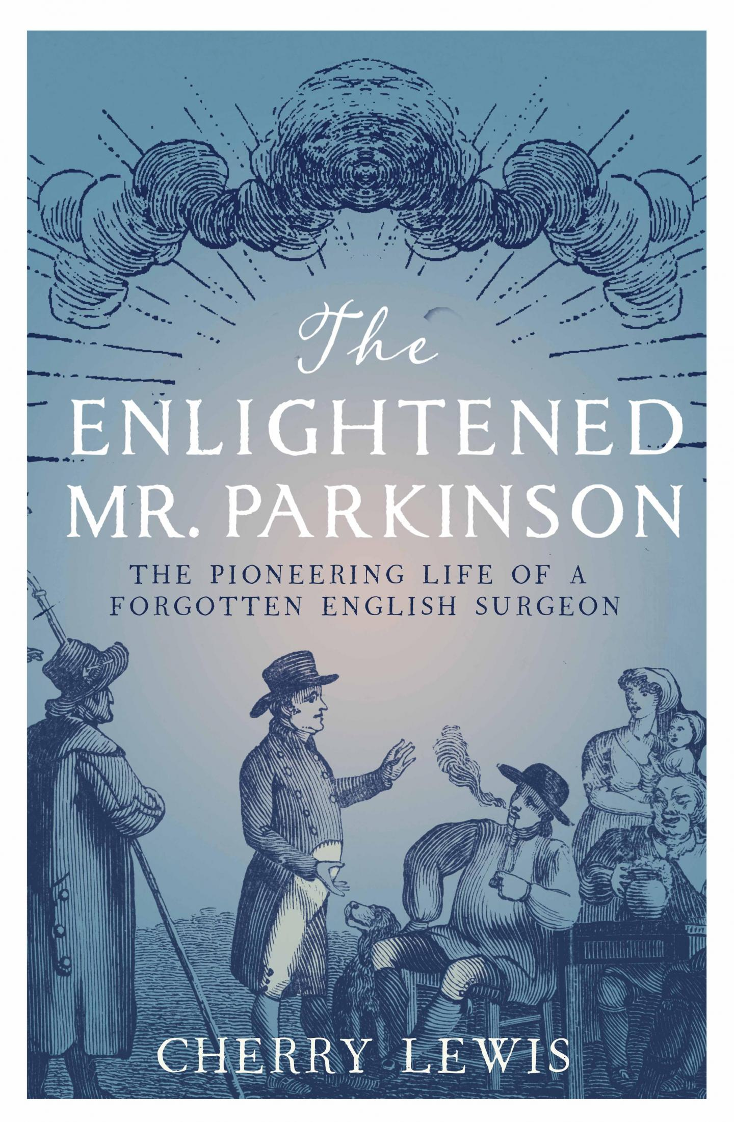 The front cover of 'The Enlightened Mr Parkinson' by Cherry Lewis