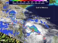 RMM Satellite Measured Rainfall in Hurricane Ingrid