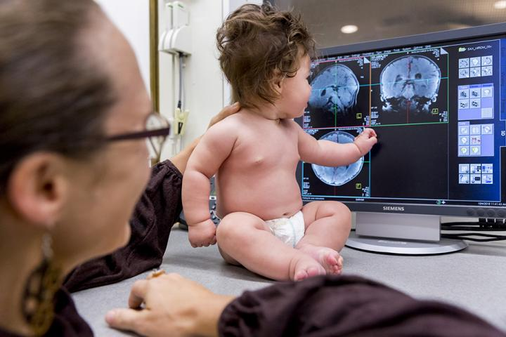 A Glimpse into the Workings of the Baby Brain