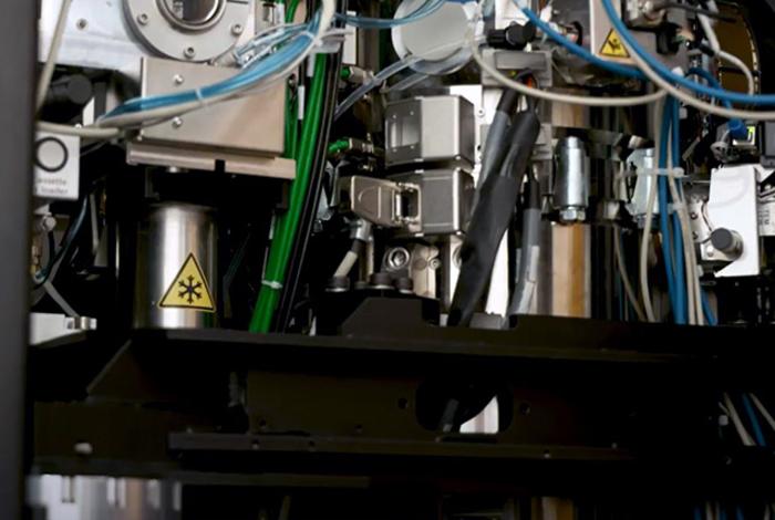 Cryo electron microscope interior