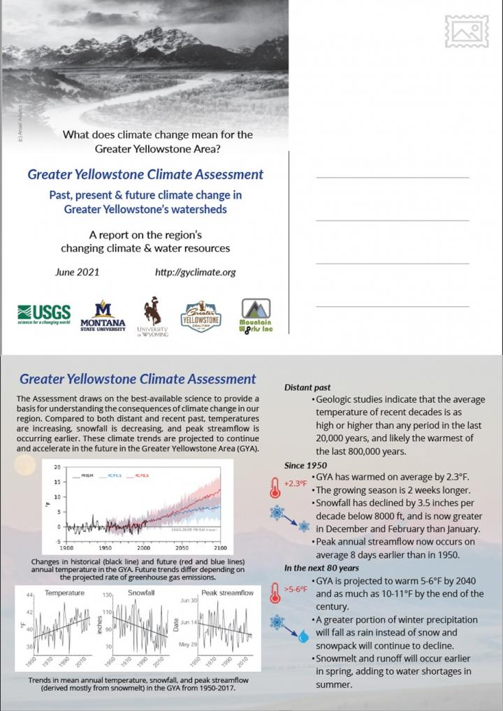 Postcard of Findings, Greater Yellowstone Area Climate Assessment