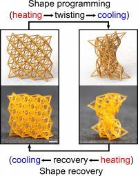 4D-Printed Metamaterials
