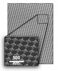 SEM of plasmonic metasurface for THz polarization modulation