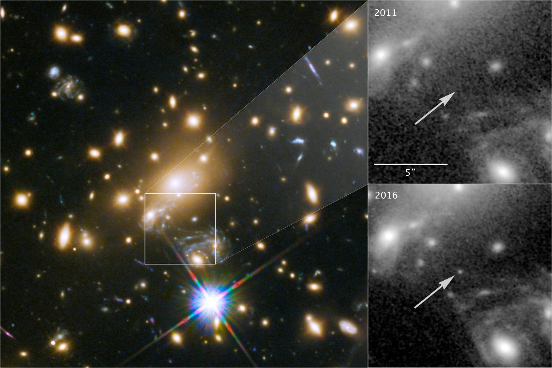 Gravitational Lens Reveals Most Distant Star Ever Seen
