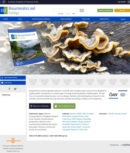 The website of the journal Biosystematics and Ecology