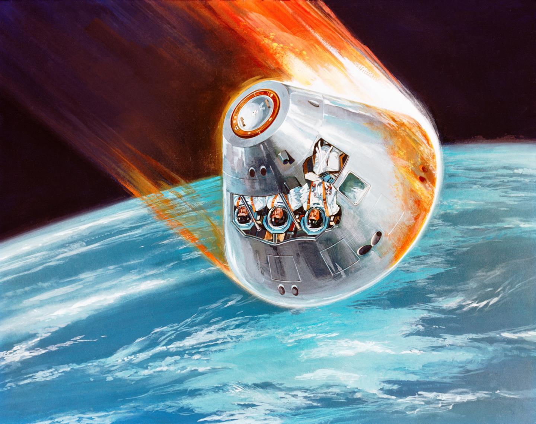 Apollo Command Module, Conceptually Depicted