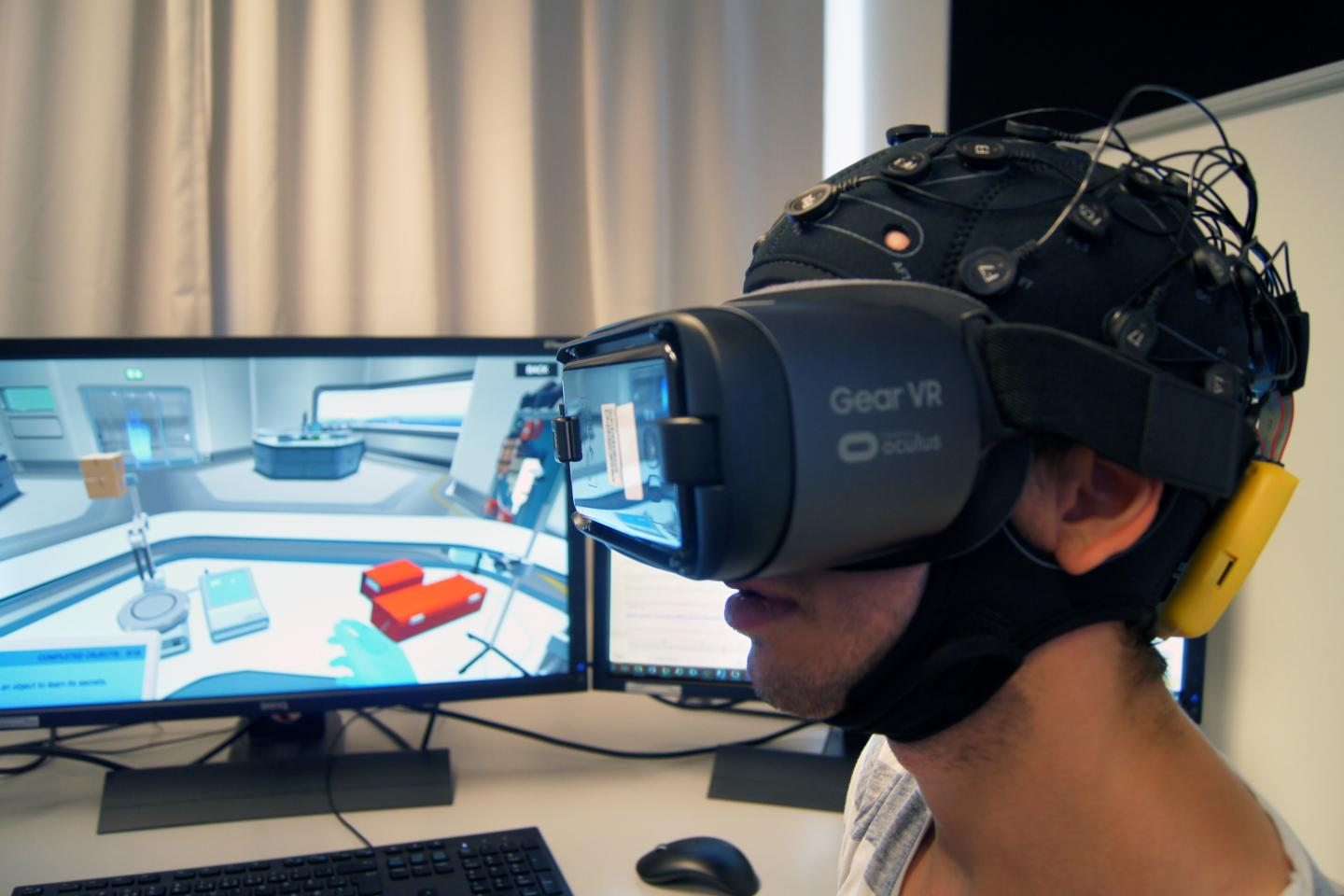 Student in VR-Teaching