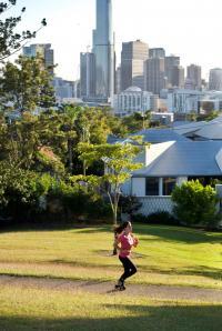 Running in Brisbane, Australia