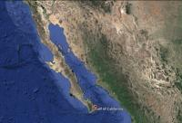 Gulf of California, Mexico Map