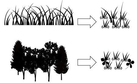 Rice paddies which were originally wetland or non-wetland