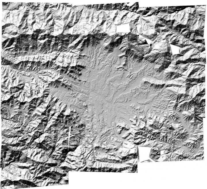 Digital Terrain Model image of the Kathmandu Valley, Nepal